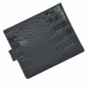 Кожаный кошелек мужской черный под крокодила KARYA 0440/104К