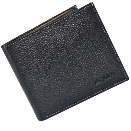 Мужское портмоне из натуральной кожи черное AKA 537/101К