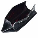 Мужское портмоне из натуральной кожи черное под варана DESISAN 306/107К