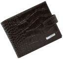 Мужское портмоне коричневое с текстурой под кожу крокодила KARYA 0411/204К