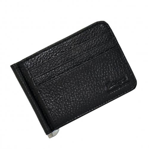 Мужской кошелек с зажимом черный KARYA 0904/101К