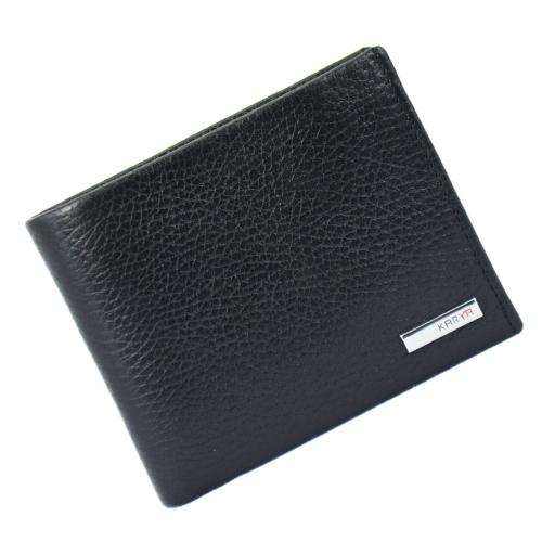 Мужской кошелек с зажимом черный KARYA 0945/101К
