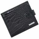 Мужской кожаный кошелек черный под крокодила KARYA 0413/104К