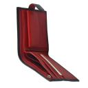 Портмоне кошелек черный с красным KARYA 0417/101-301К