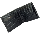 Портмоне кожаное черное с тиснением под крокодила полуглянцевое KARYA 0412/104К