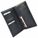 Шкіряний гаманець чоловічий чорний AKA 809/101К