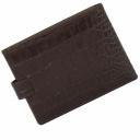 Шкіряний гаманець чоловічий рудий з ручкою KARYA 0418/204К