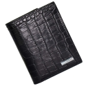 Стильное портмоне из натуральной кожи черное под крокодила KARYA 0932/104К