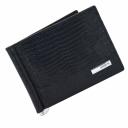 Зажим для денег кошелек из кожи черный под варана KARYA 0902/106К